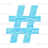 Hashtag Twitter Facebook image for Bright Sparks blog Sandeep Manudhane SM