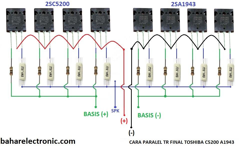 Cara Paralel Transistor Final Power Amplifier - Bahar ...