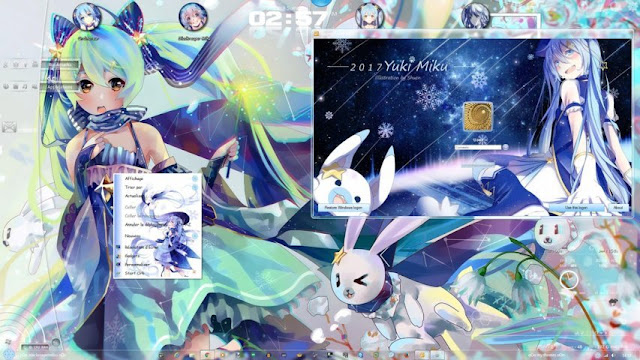 Snow Miku 2017 Theme Win 7 by Andrea_37