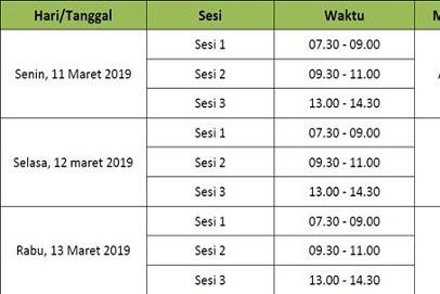 Jadwal UAMBN MA Tahun 2018/2019