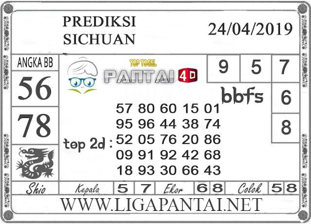 """Prediksi Togel """"SICHUAN"""" PANTAI4D 24 APRIL 2019"""
