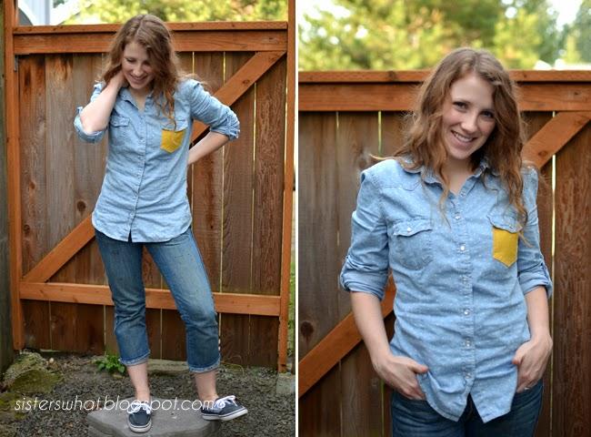 color pop pocket shirt