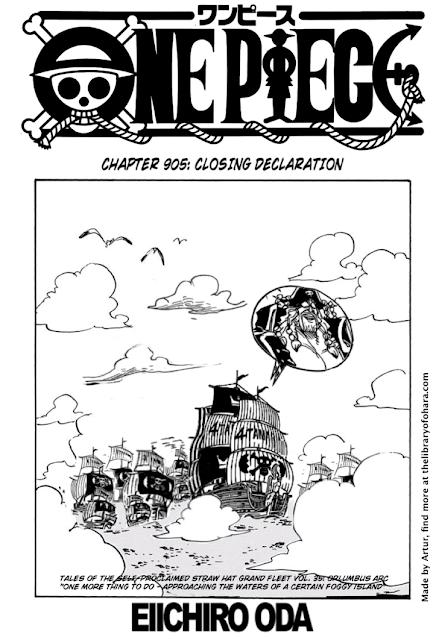 One piece chapter 905 manga