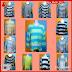 RYB111B Kaos Distro Cantik Stripe Murah Tee BMG Online Shop