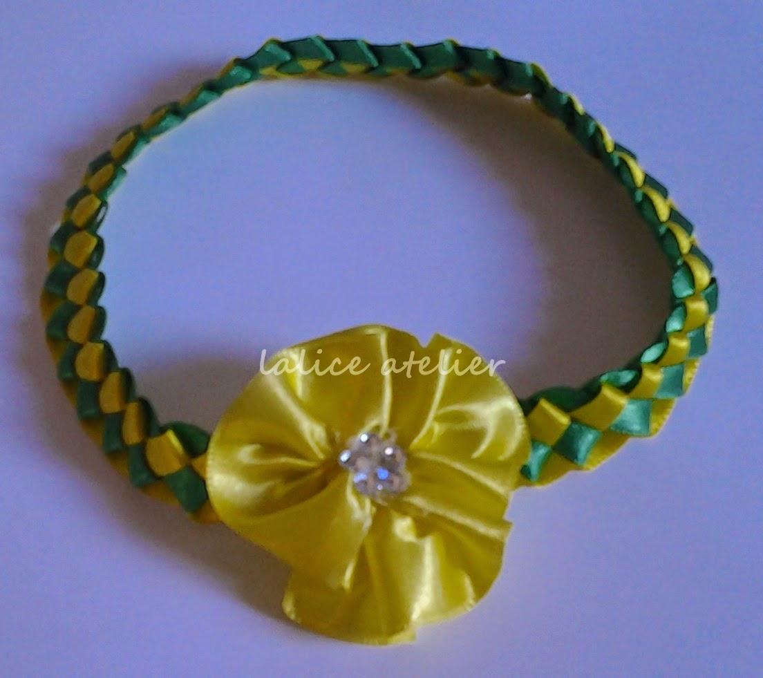 tiara cetim. tiara fita, faixa bebê, acessórios verde amarelo, seleção canarinha