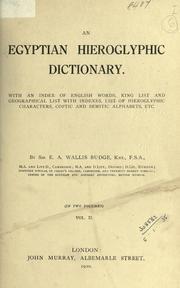 Wallis Budge's Hieroglyphic Dictionary