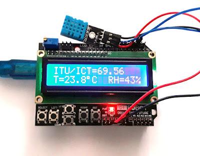 Determinare indice confort termic cu senzor DHT11 și Arduino