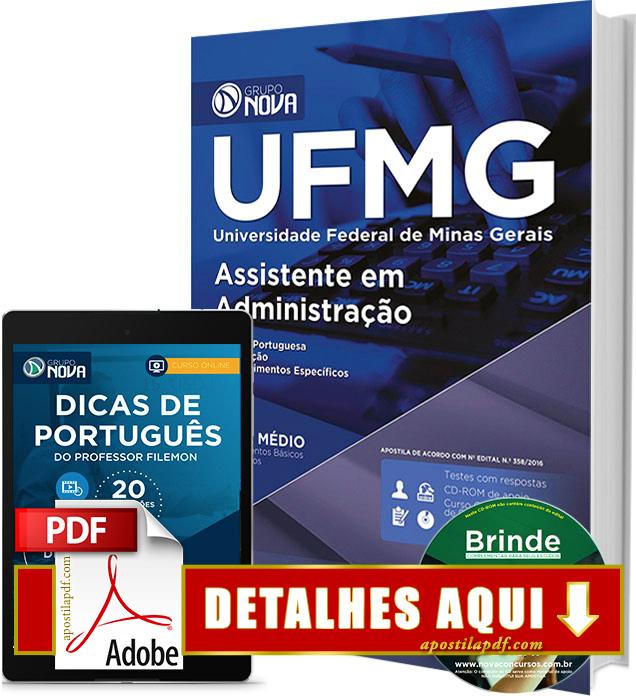 Apostila UFMG 2016 Assistente em Administração Impressa