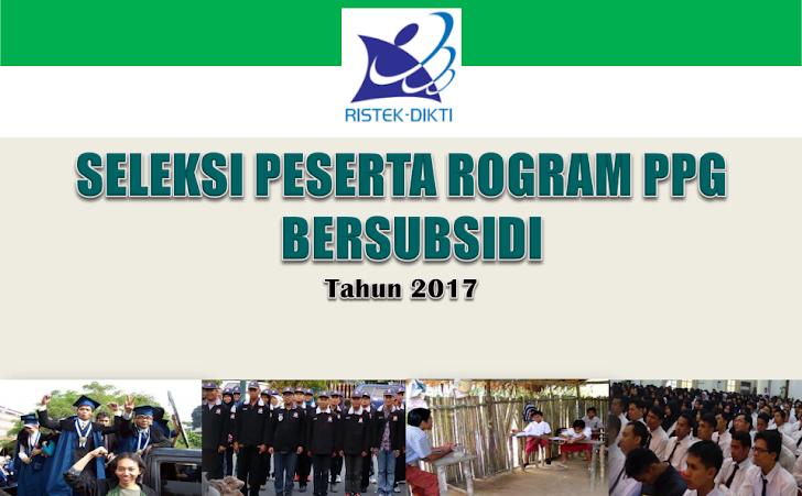 PERSYARATAN DAN KEUNTUNGAN PPG BERSUBSIDI TAHUN 2017