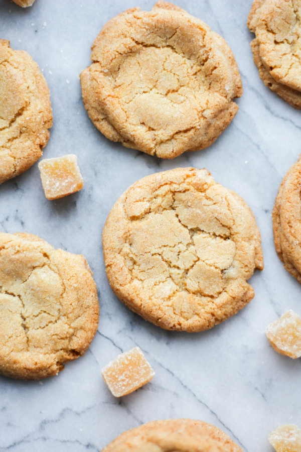These crunchy Triple Ginger Cookies are light and crispy and packed ...
