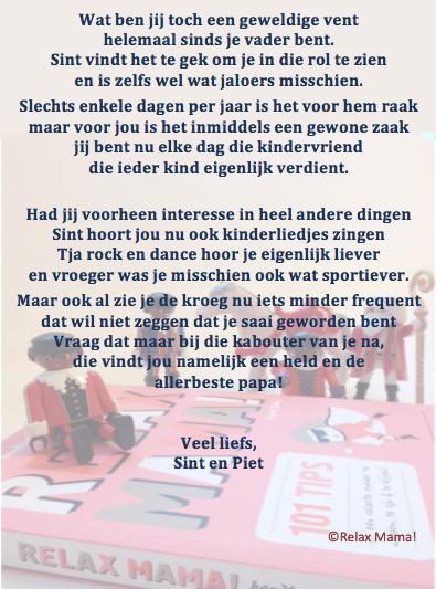 Elsbeth Teeling Relax Papa Sinterklaasgedichten