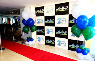 Red carpet step and repeat banner