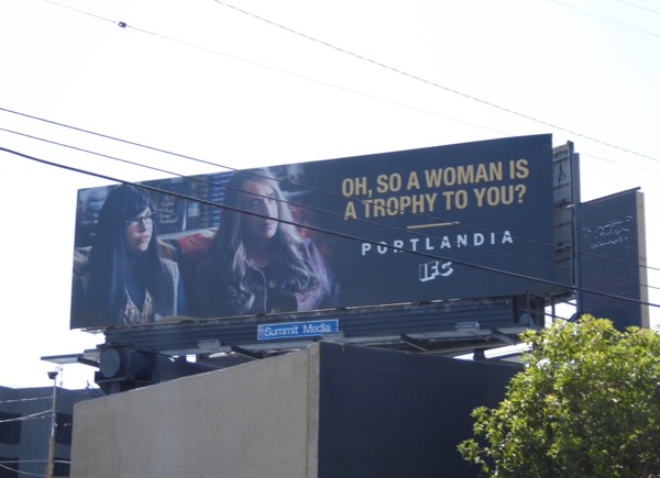 Portlandia woman is trophy to you billboard