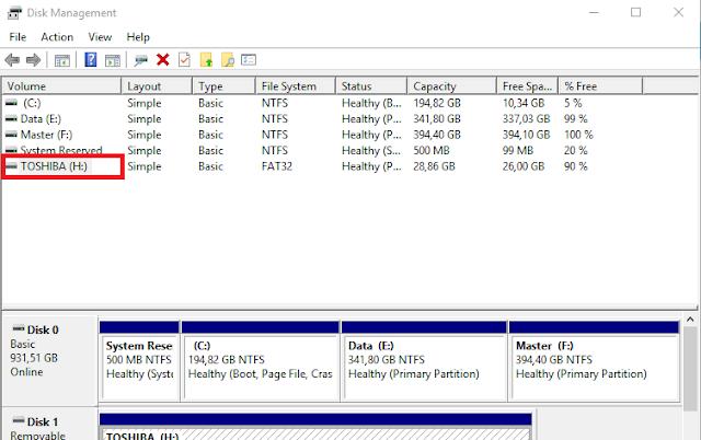 Memperbaiki Flashdisk tidak Terbaca Datanya (1)