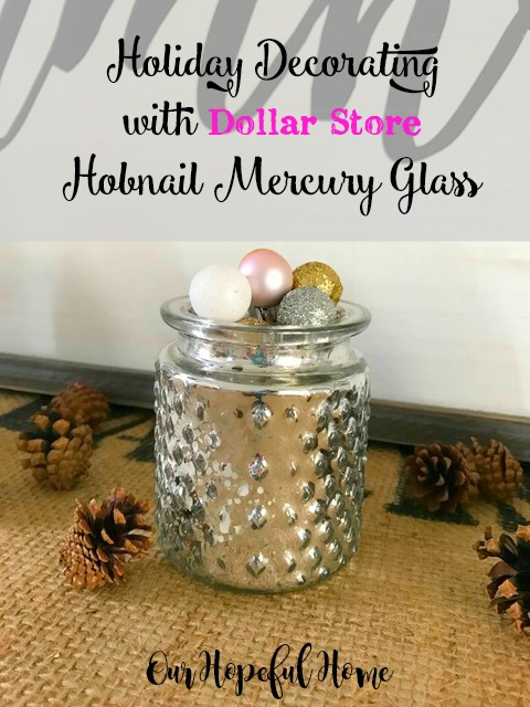 hobnail mercury glass sparkle mini-ornament holiday decor