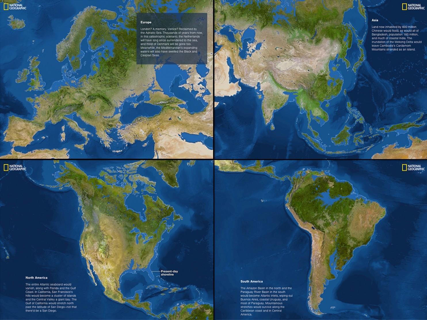 derretimento do gelo dos polos norte e sul