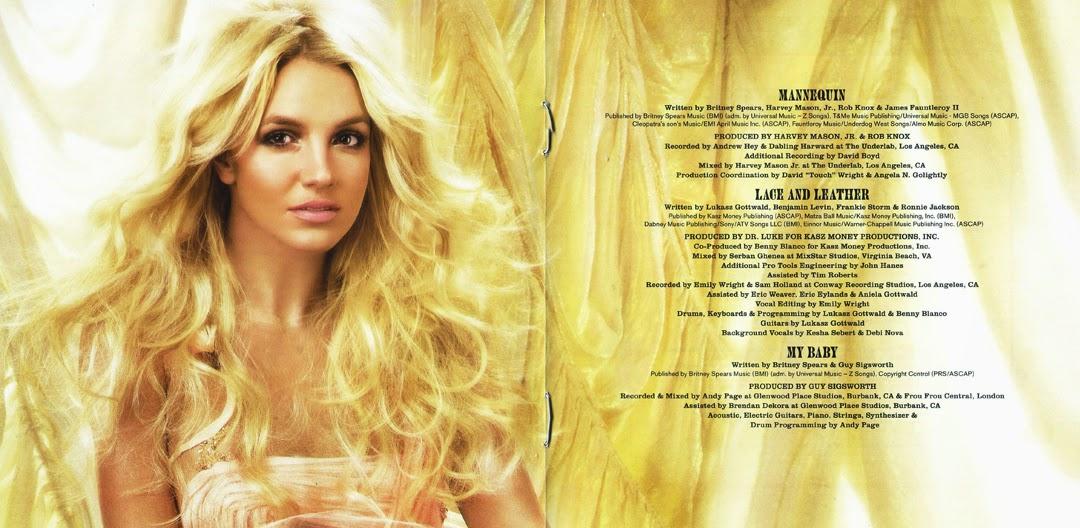 Encartes Pop Encarte Britney Spears Circus DeluxeBritney Spears Circus Deluxe Edition