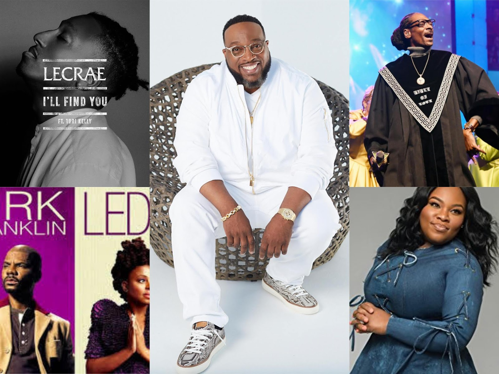 Lecrae. BET AWards 2018. Marvin Sapp. Ledisi and Kirk Franklin. Tasha Cobbs