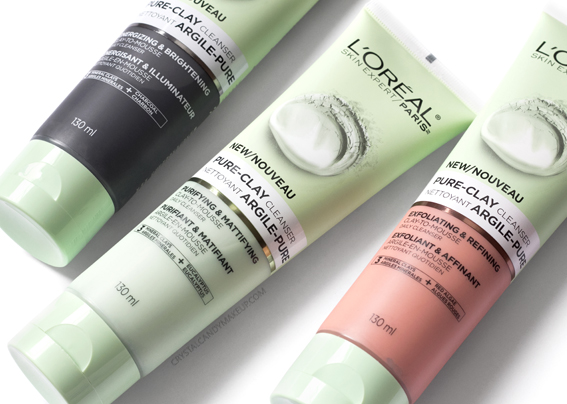 L'Oreal Paris Pure-Clay Cleansers Review Swatches