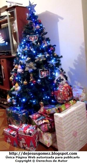Foto de un Arbol de Navidad con luces azules de Jesus Gómez