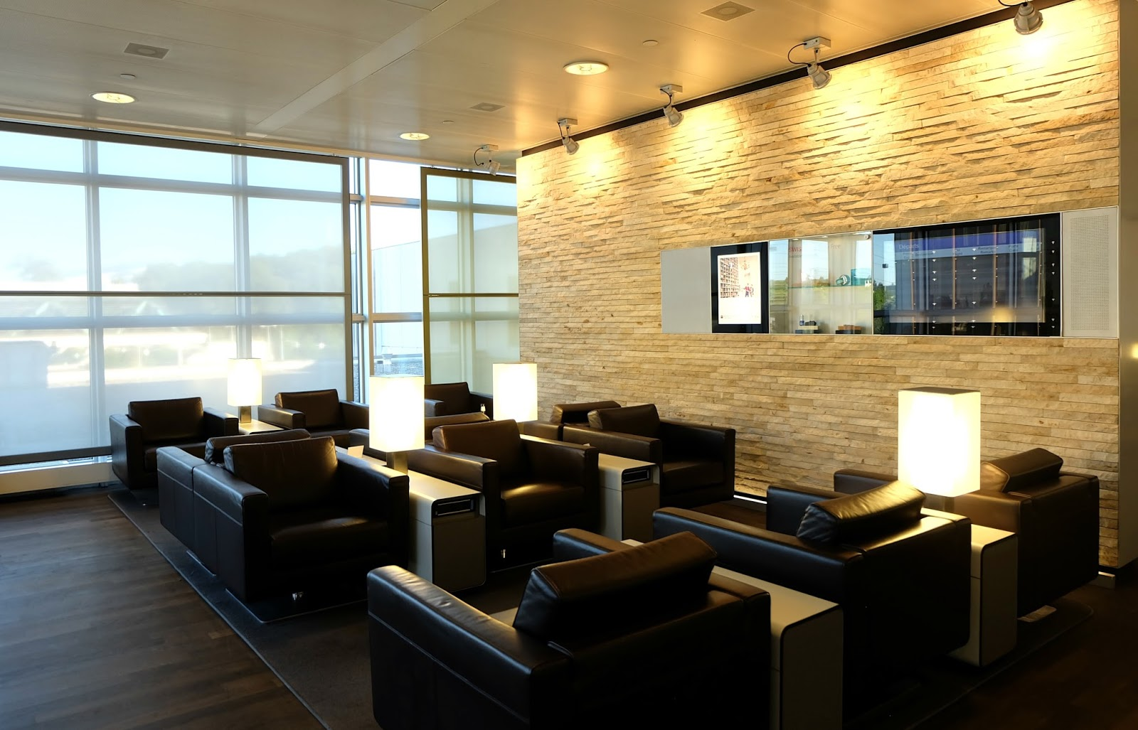 Business lounge, Swiss Air, Geneva