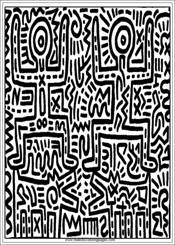 Keith Haring Arts Printable Coloring Pages | Realistic ...