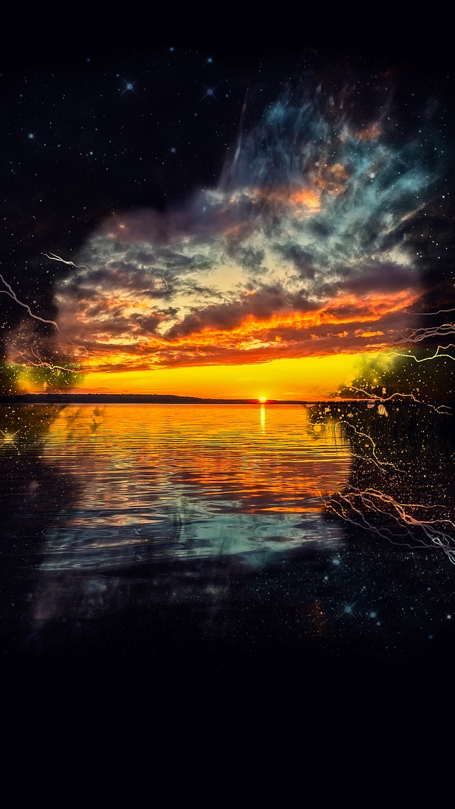 Amazing Photoshop sunset wallpaper