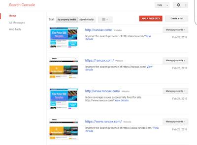 Verifikasi Blog Pada Google Sreach Console