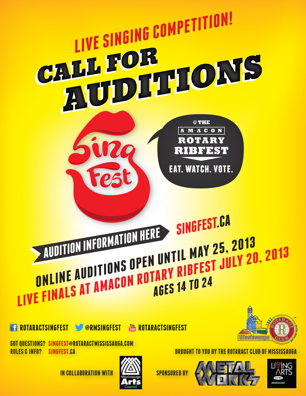 Audition online to sing