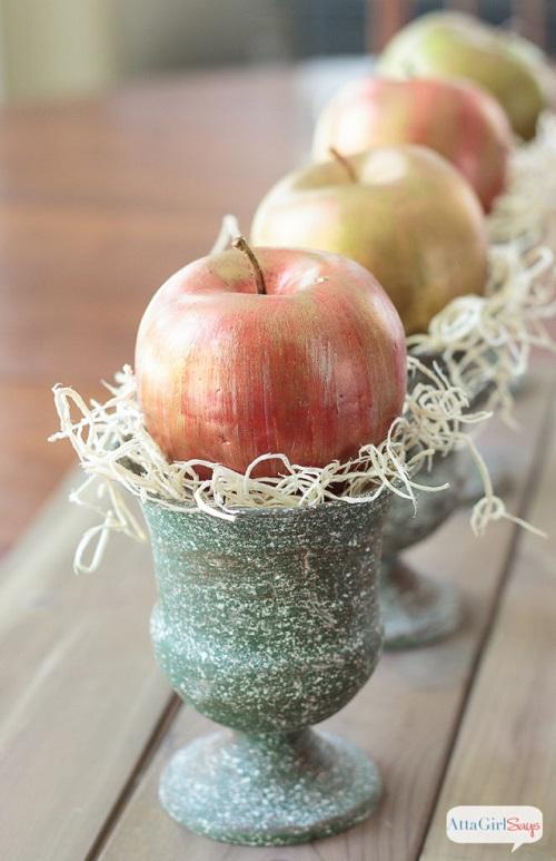 metallic apple craft