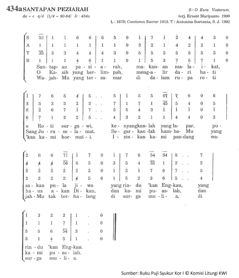 Lirik Dan Chord Lagu Santapan Peziarah