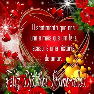 O sentimento que nos une é mais que um feliz acaso, é uma história de amor. Feliz Dia dos Namorados!