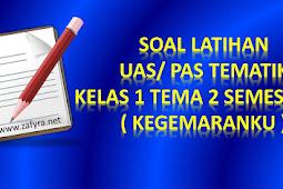 Soal Latihan UAS Tematik Kelas 1 Tema 2 Semester 1/ Ganjil K 13