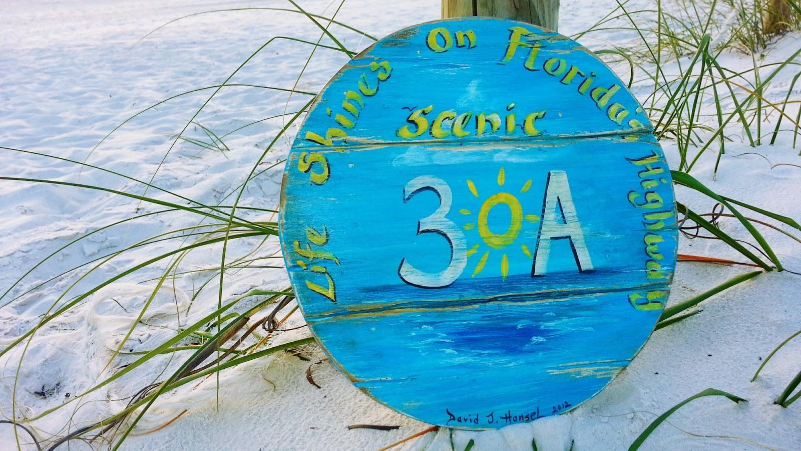 David J Hansel The Artist 30a Vintage Beach Sign Order