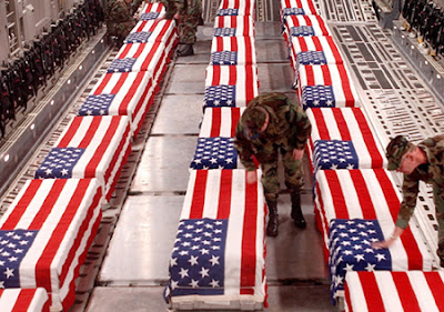 Iraq War, caskets, Dover Air Force Base, dead, George W. Bush