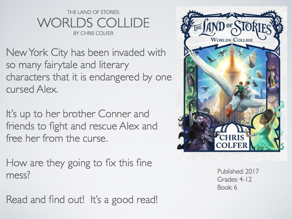 The Land Of Stories Worlds Collide By Chris Colfer