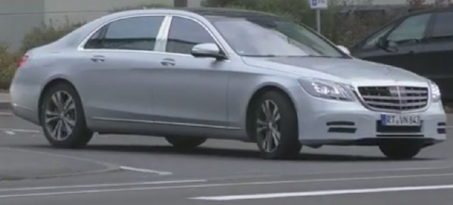 2018 Mercedes-Maybach S-Class Facelift Spied Trying to Conceal Its Opulence Reviews
