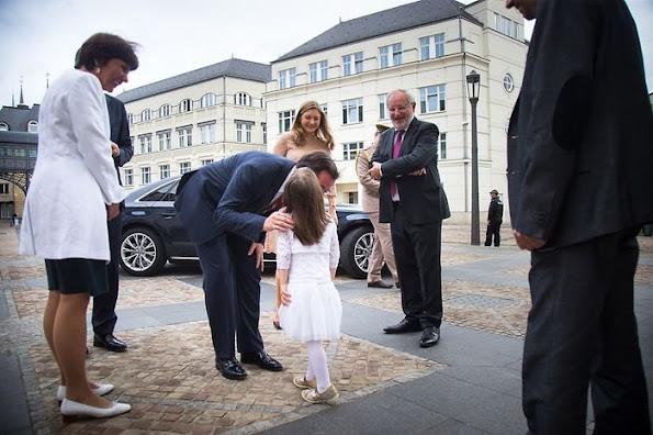 Hereditary Grand Duke Guillaume and Hereditary Grand Duchess Stéphanie of Luxembourg