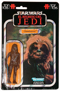 Chewbacca TOP TOYS card - El Regreso del Jedi - Argentina