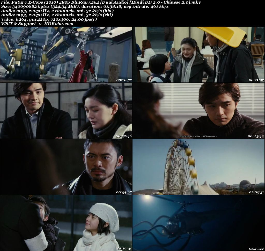 Future X-Cops (2010) 480p BluRay x264 [Dual Audio] [Hindi - Chinese] Screenshot