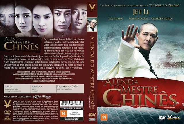Capa DVD A Lenda do Mestre Chinês
