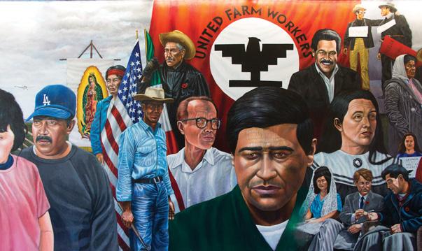 California historical society honoring c sar ch vez for Cesar chavez mural
