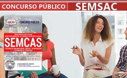 Concurso SEMCAS São Luís-MA 2018