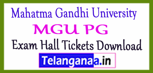Mahatma Gandhi University MGU PG Exam Hall Tickets Download