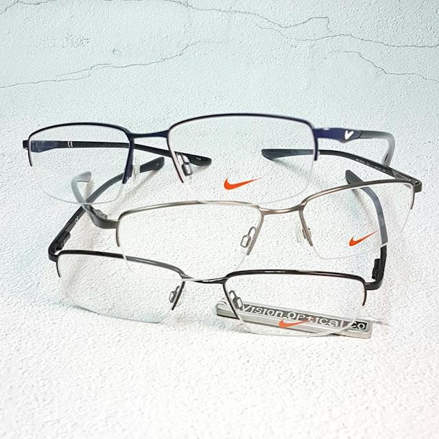 NIKE 7925IN 半框金屬彈性臂眼鏡