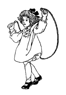 girl toy jump rope illustration