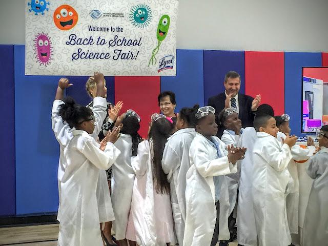 Actress Ali Larter Lysol Back to School Science Fair Boys & Girls Club NYC