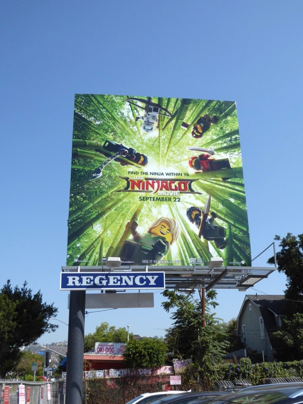 Lego Ninjago movie billboard