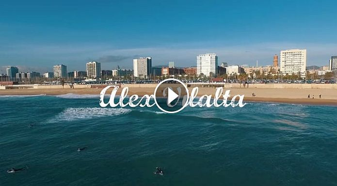 Alex Vilalta Surfing Barcelona 2015