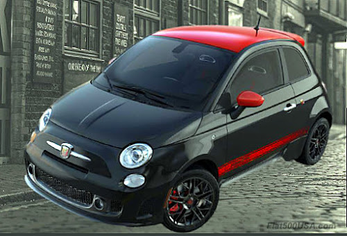 Fiat 500 Abarth Red Top
